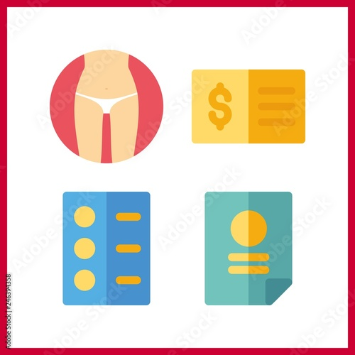 4 form icon  Vector illustration form set  check and list icons for