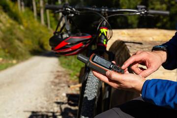 Mountainbike Tourplanung mit GPS Gerät