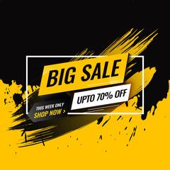 Black Friday Abstract Black And Yellow illustration Layout Design