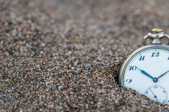 Time,Clock and Sand