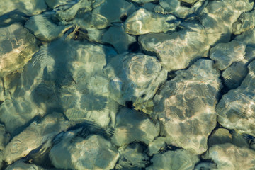 Background (stones in sea water)