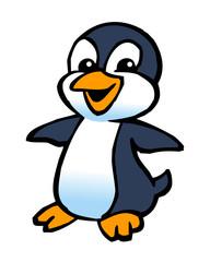 happy dancing young penguin clipart