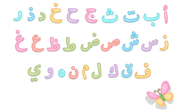 Baby care Arabic alphabets