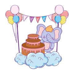 elephant with sweet cake