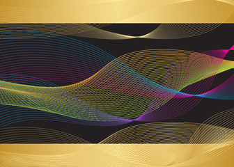 Creative business gold-black card templates