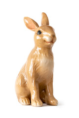 sweet easter rabbit figure isolated on whte background