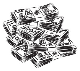 money American dollars illustration