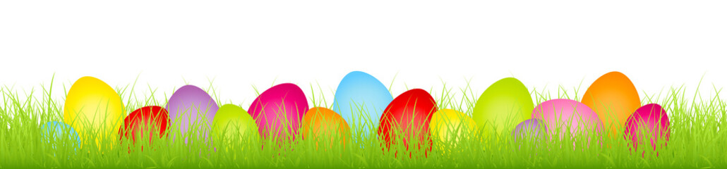 Meadow Easter Eggs Mix Color Banner