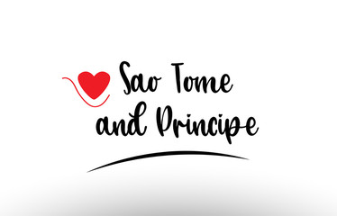 Sao Tome and Principe country text typography logo icon design