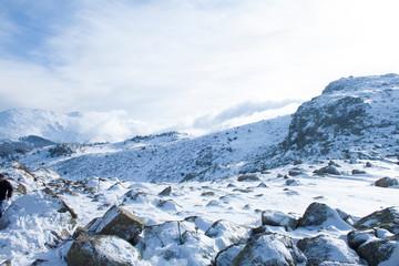 Día de nieve en la sierra de guadarrama
