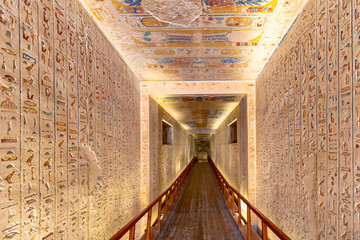 Tomb in the Valley of the Kings, is the burial place of Ramesses IV in Luxor, Egypt