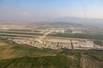 Blick Flughafen Masar-e Sharif in Afghanistan