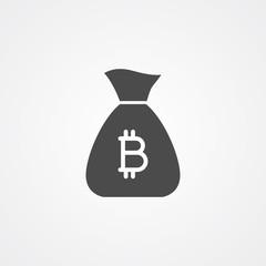 Money bag vector icon sign symbol
