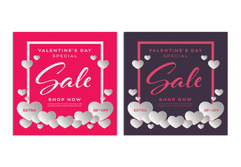 Valentine's Day Sale Social Media Post Layout