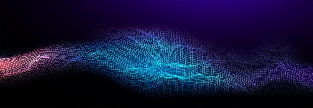 Music background. Sound waves equalizer vector concept.