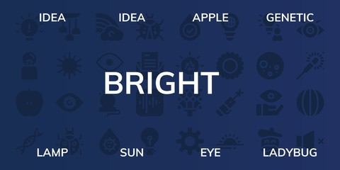 bright icon set