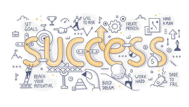 Success Word Doodle Concept