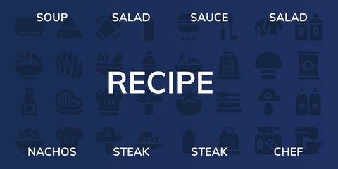 recipe icon set