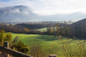 Picturesque landscape of hillsides of Navarre