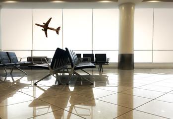 sala di attesa all'interno di un aeroporto
