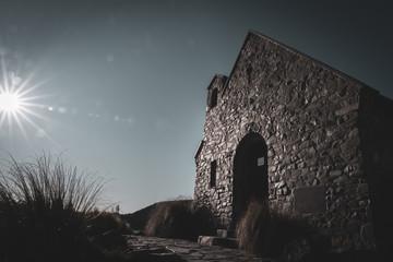 In de dag Oude gebouw iconic Church of Good Shepherd