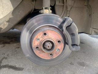 car brake disc and caliper