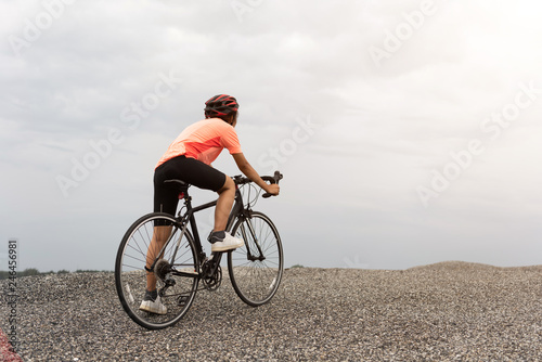 Road bike cyclist man cycling  Biking Sports fitness athlete riding