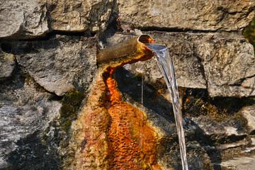 Mineralwasserquelle, Nahaufnahme