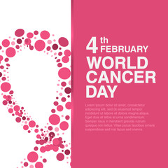 February 4 World Cancer Day concept