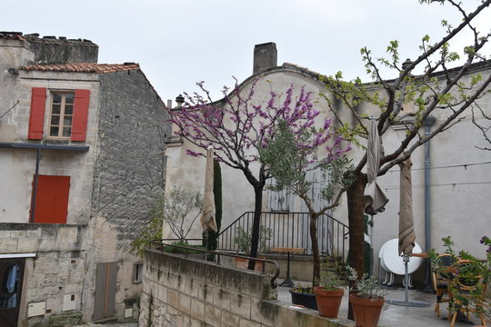 street in old town of the cote dazur france