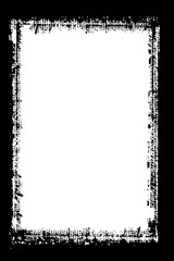 Abstract Decorative Black and White Photo Frame. Type Text Inside, Use as Overlay or for Layer Mask.