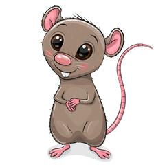 Cartoon Rat isolated on white background