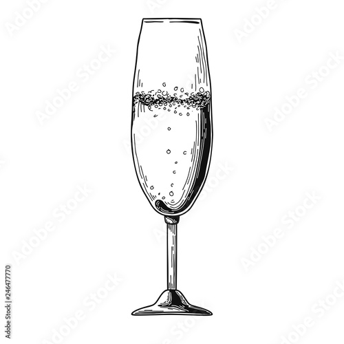 champagne flute cartoon vector images 43 - 500×500