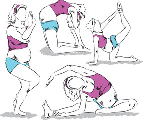 maternity yoga illustration