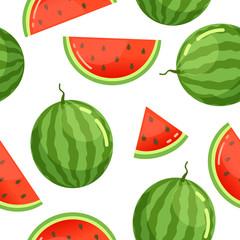 Watermelon pattern seamless