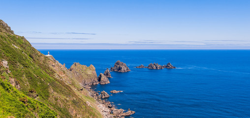 Cape Ortegal lighthouse on the northern coast of Galicia, Ortigueira