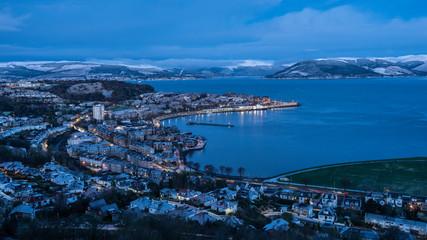 Looking out from Lyle Hill, Greenock