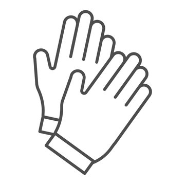 Gloves thin line icon. Garden glove vector illustration isolated on white. Work clothing outline style design, designed for web and app. Eps 10.