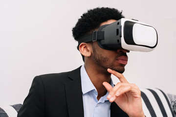 Man in VR headset