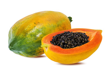 Wall Mural - papaya isolated on a white background