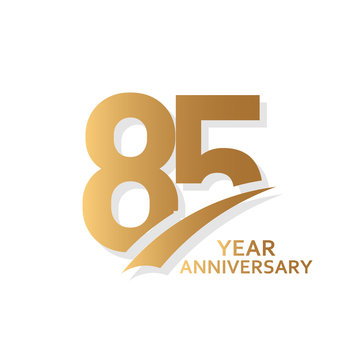 85 Year Anniversary Vector Template Design Illustration