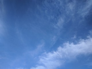 Blue sky with tiny cloud. Sky clouds background.
