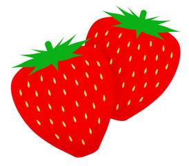 二つのイチゴ