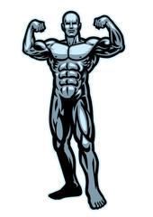 bodybuilder flexing muscle pose