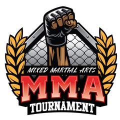 mma badge design