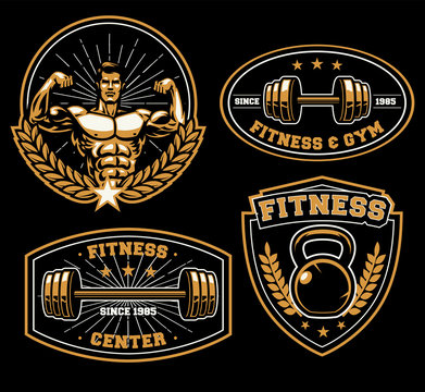 fitness training center badge