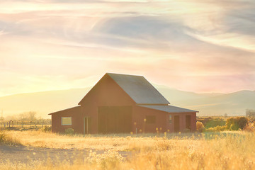 The working barn and property