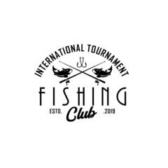 Vintage fishing logo Template