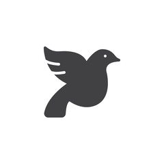 Wedding dove vector icon. filled flat sign for mobile concept and web design. Wedding pigeon simple solid icon. Dove Bird symbol, logo illustration. Pixel perfect vector graphics