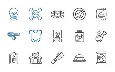 bone icons set